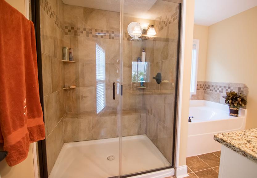 glass shower door, marble, bath, shower, tub, marble, tiles, 44 viburnum way, pine mountain ga, georgia