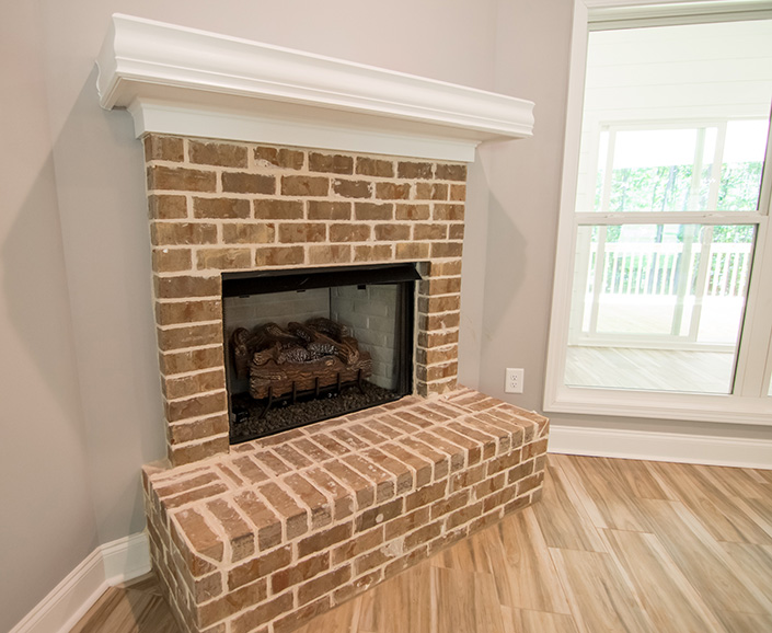 Home Near Callaway Gardens, 74 virburnum way, john brunn realty, fire place, brick fire, hardwood floor