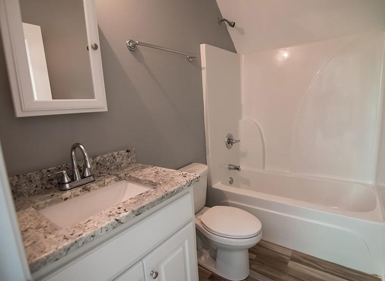 Home Near Callaway Gardens, bathroom at john brunn realty, marble