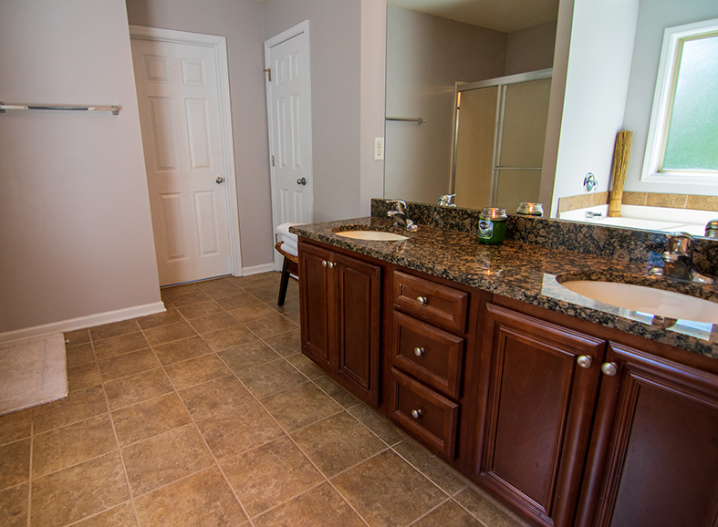 Bathroom in columbus ga listed by john bunn realty and team with granite countertops