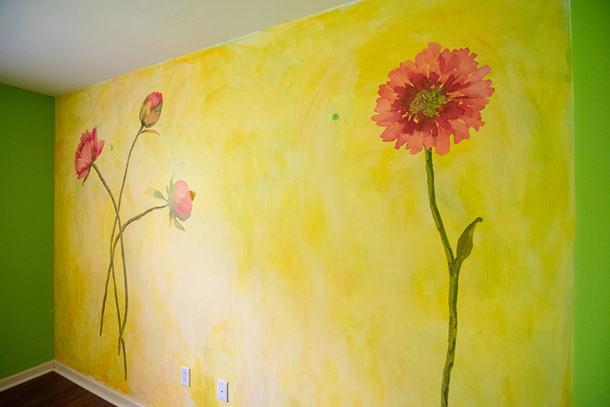 Pretty mural in a house that is listed by john bunn realty in columbus ga