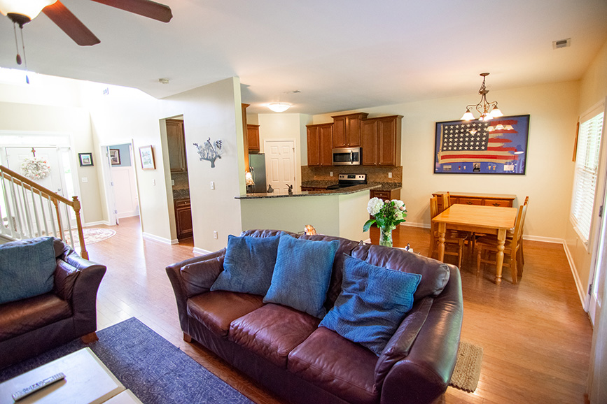 John bunn realty house for sale living room leather couches