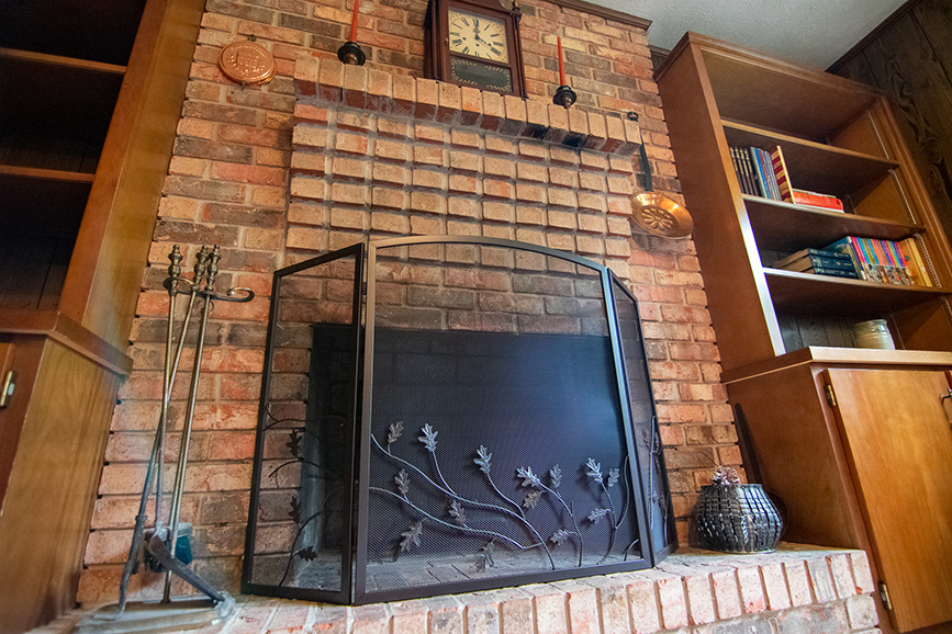 John Bunn realty fireplace in a house that was listed
