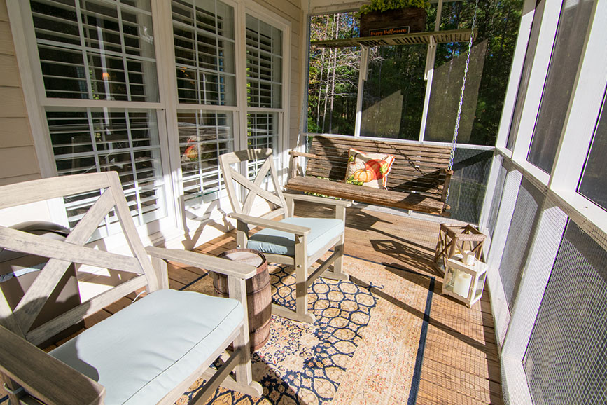 screened in porch with porch swing house for sale harris county ga