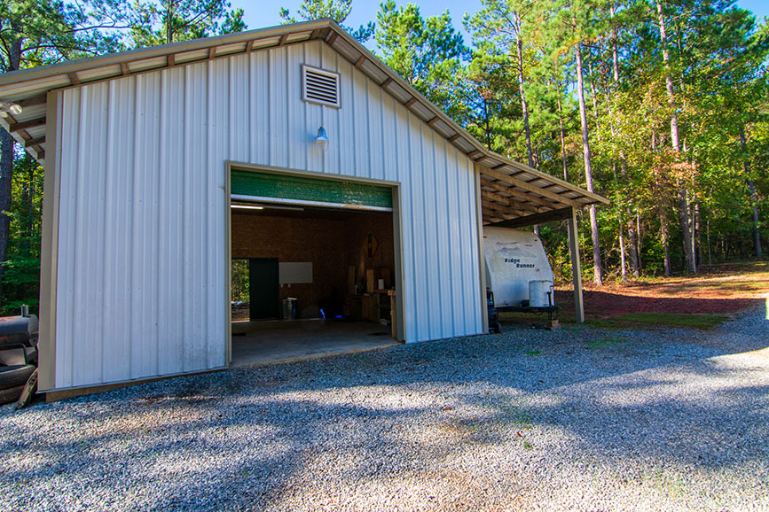 outbuilding with awning for storage for sale john bunn realty