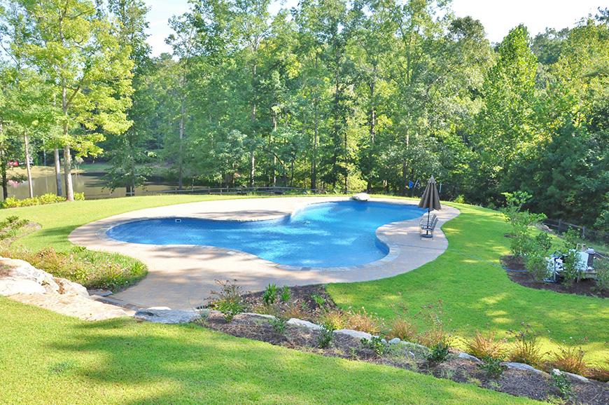 backyard swimming pool john bunn realty harris county ga